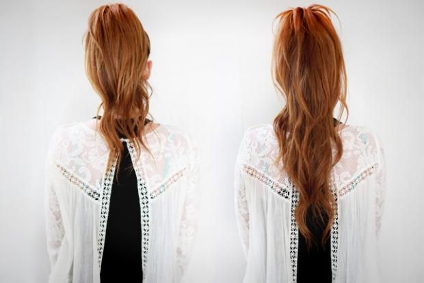Как сделать короткий хвост из длинных волос